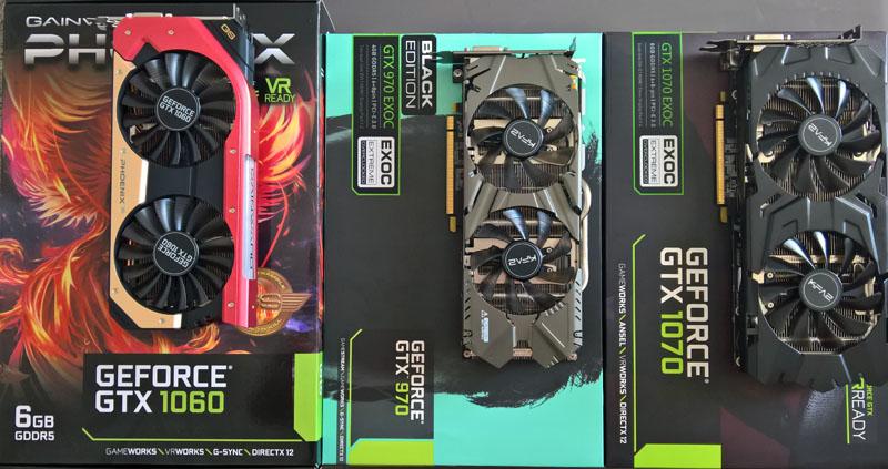 Comparatif GTX 970 vs GTX 1060 vs GTX 1070 - Skynet Micro